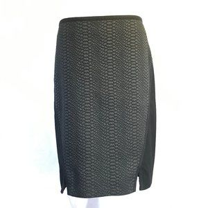 Ted Baker London Sew In Love Textured Black Skirt